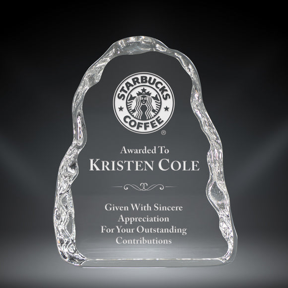 GreyStone Ice Flow Crystal Award | 3 SIZES