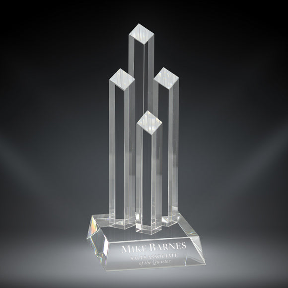 GreyStone Diamond Tower Crystal Award | 2 SIZES