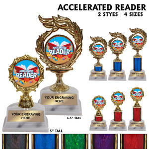 Accelerated Reader AR Award Trophies | 2 STYLES | 4 SIZES | 5 COLORS