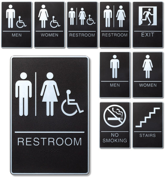 Exit 6 x 9 ADA Information Sign with Braille Set of 6 Signs
