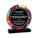 Premier - Watercolor Inspired Round Acrylic Award | 2 SIZES