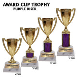 Gold Cup Award Trophies | 4 SIZES | 5 COLORS