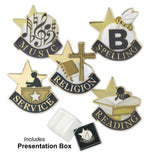 Die Struck Enamel Filled Achievement Lapel Pins - Includes Box | 27 STYLES