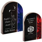 "Premier - 1"" thick Red and Blue Velvet Arch Self-Standing Acrylics 