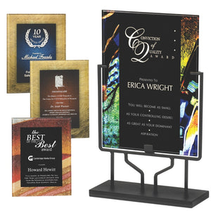 Premier - Artistically Inspired Plaques in Black Iron Stand | 4 COLORS