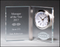 "Airflyte 1/2"" thick Clear Glass Book Clock"