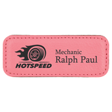 Leatherette Name Badges with MAGNETIC Backing | 3 SIZES | 9 COLORS
