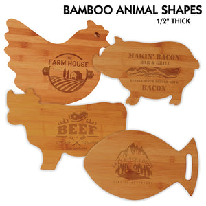 All Natural Bamboo Cutting Boards | 4 SHAPES