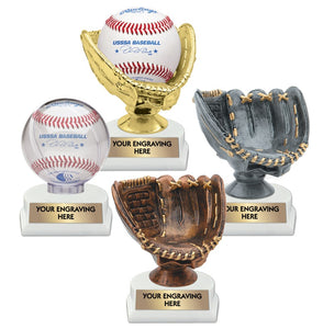 Baseball Ball Holder and Glove Trophies | 4 STYLES