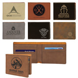 Customizable Leatherette Bifold 6 Slot Wallet | 7 COLORS
