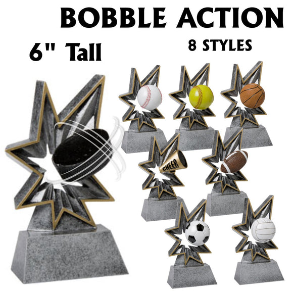Bobble Action Sport Resin Awards | 8 STYLES