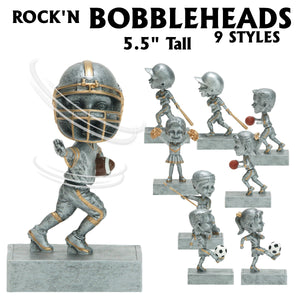 Rock'n Bop Bobble Head Action Sport Resin Awards | 9 STYLES
