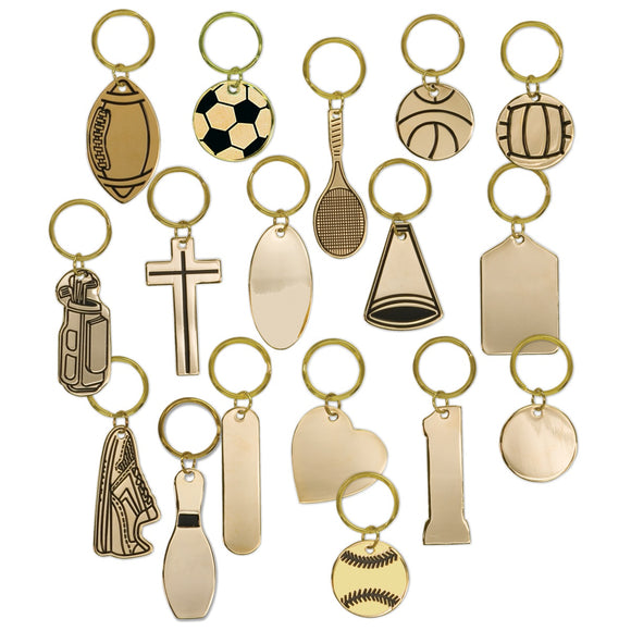 Brass Engravable Keychains | 17 STYLES