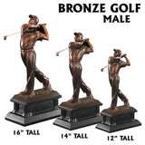 Bronze Modern and Elegant Golf Resin Statue Award Trophies