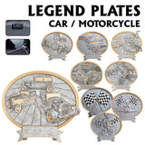 LA Trophies - Legend Series Silver and Gold Oval Cars Bikes Racing and Motorcross Plates  | 2 SIZES
