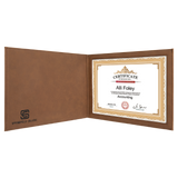 "Customizable Leatherette 8-1/2"" x 11"" Certificate Holders 
