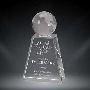 GreyStone Crystal Globe Award | 2 SIZES