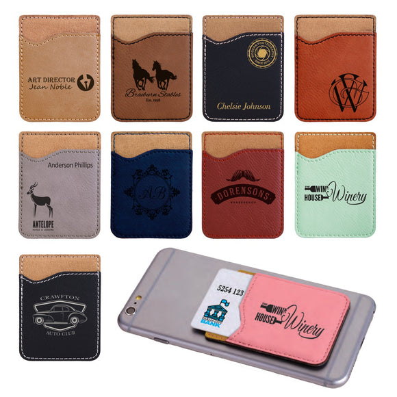 Customizable Leatherette Cell Phone Wallet | 11 COLORS