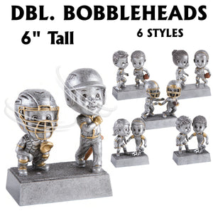 Double Bobble Head Sport Resin Awards | 6 STYLES