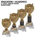 Education Lamp of Knowledge Award Trophies | 4 SIZES | 5 COLORS