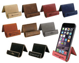 Customizable Leatherette Easel Device Holders | 10 COLORS