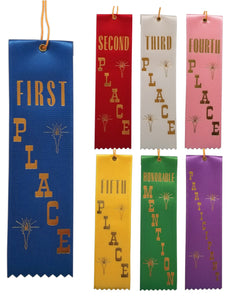 "2"" x 8"" Event Ribbons with Card on Back 