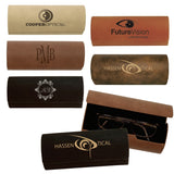 Customizable Leatherette Eye Glasses Holder Case | 6 COLORS