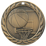 "2"" FE Series Iron Basketball Award Medals on 7/8"" Neck Ribbons 