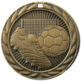 "2"" FE Series Iron Soccer Award Medals on 7/8"" Neck Ribbons 