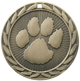 "2"" FE Series Iron Paw Print Award Medals on 7/8"" Neck Ribbons 