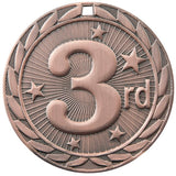 "2"" FE Series Iron 3rd Place Medals on 7/8"" Neck Ribbons"