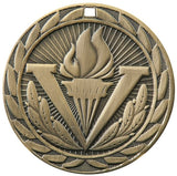"2"" FE Series Iron Victory Torch Award Medals on 7/8"" Neck Ribbons 