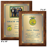 LA Trophies - FFA Awards Full Color Sublimated Plaques - 4x6, 5x7, 6x8, 7x9, 8x10 | 5 SIZES