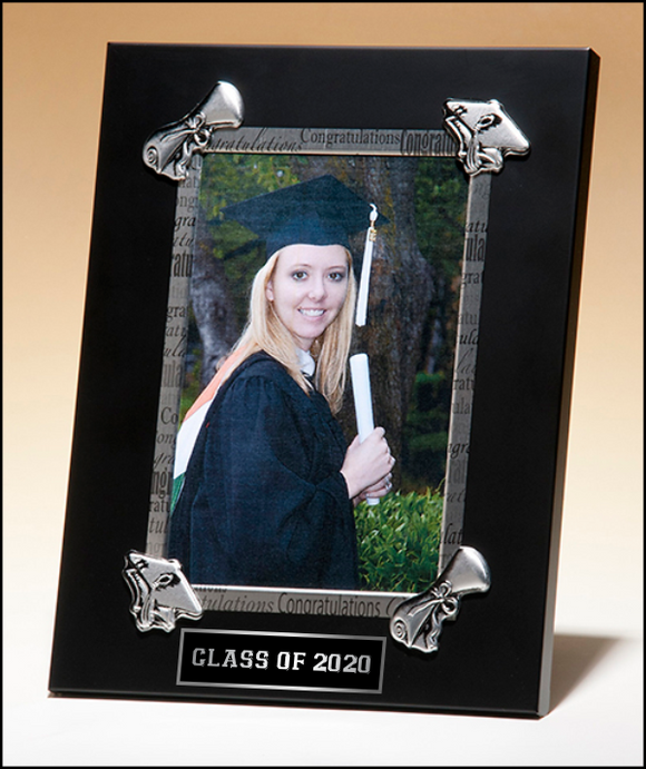 Airflyte Black and Silver Congratulations Graduate, Graduation 5x7 Photo Frame