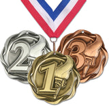 "3"" Fusion Place Medals on 1-1/2"" Wide Neck Ribbons 