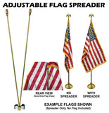 "ADJUSTABLE FLAG SPREADER - For 1"" to 1-1/4"" Outside Diameter Poles"