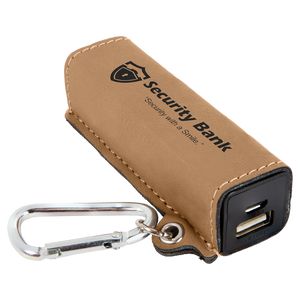 Leatherette wrapped 200mAh Quick Charge Powerbank with USB cord | 10 COLORS