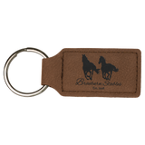 Customizable Leather Key Chain - Rectangle / Oval | 11 Colors Available