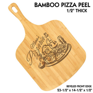 Customizable All Natural Bamboo Pizza Peel