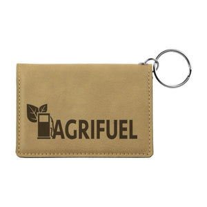 Customizable Leatherette ID Holder Keychains with Snap Button Closer | 6 COLORS