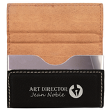 Customizable Leatherette Hard Business Card Holder Case | 10 COLORS