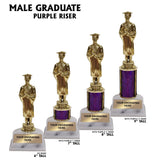 Male Graduate Award Trophies | 4 SIZES | 5 COLORS