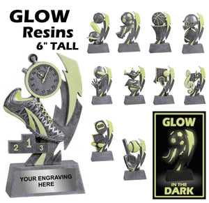 GLOW in the Dark Series Sport Activity Resin Awards | 11 STYLES
