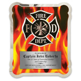 LA Trophies - HERO Firefighter Stainless Steel Chrome Plated Mirror Edge 10.5x13 Plaque