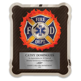 LA Trophies - HERO EMT Medical First Responders Stainless Steel Chrome Plated Mirror Edge 10.5x13 Plaque