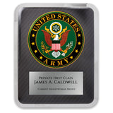 LA Trophies - HERO Award United States ARMY Stainless Steel Chrome Plated Mirror Edge 10.5x13 Plaque