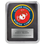 LA Trophies - HERO Award United States MARINE CORP Stainless Steel Chrome Plated Mirror Edge 10.5x13 Plaque