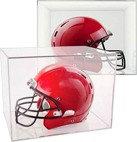 BallQube Clear Display Cases for Full-Size Football Helmet