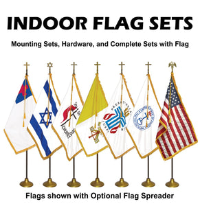 INDOOR / PARADE - Flag Sets and Hardware Options U.S., Christian, Israel Zion, Methodist, Papal, Presbyterian, United Church of Christ