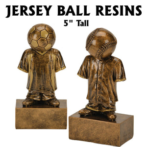 Jersey Ball Baseball, Softball, Soccer Resin Awards